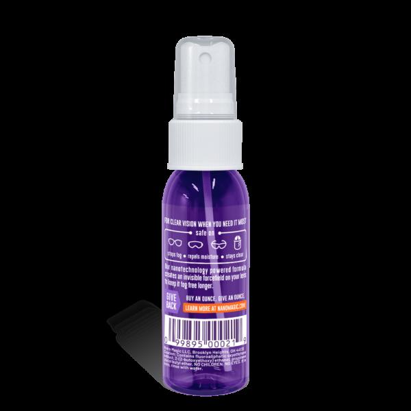 Nano Magic - Anti Fog Safety Spray - Back