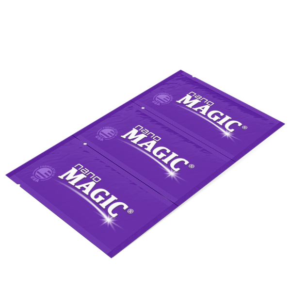Nano Magic - Screen Cleaning Wipes - Trifold Strip - Angle Front