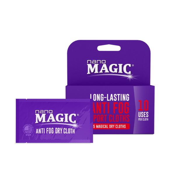 Nano Magic - Anti Fog Sport Dry Cloth Strip - Box & Foil Package