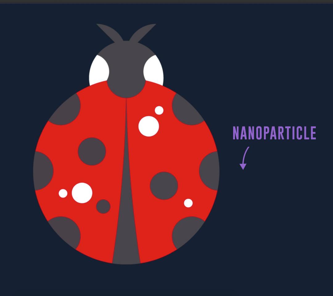 Nano Magic - Ladybug Nanoparticle Illustration