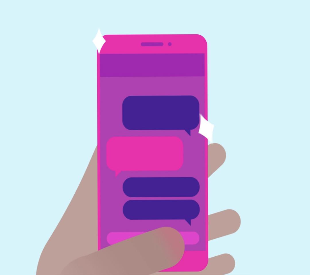 Nano Magic - Mobile Phone in Hand Illustration