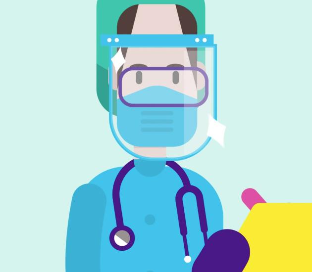 Nano Magic - Physician PPE Illustration
