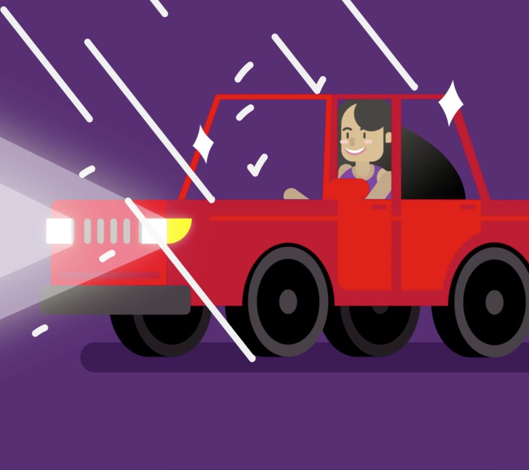 Nano Magic - Automobile in Rain Illustration